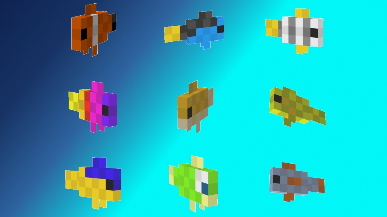 Minecraft xbox pe 1 3 lots of new tropical fish for How to fish in minecraft pe