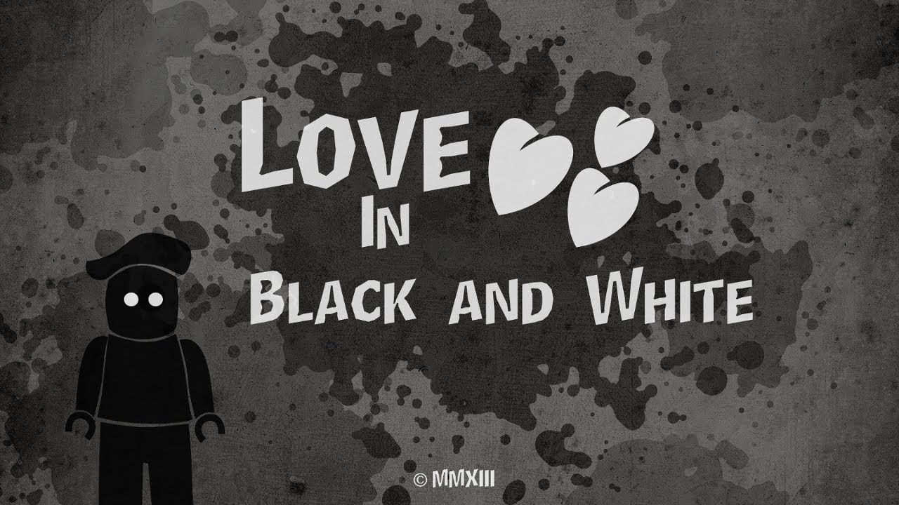 Love in black and white lego mime brickfilm youtube