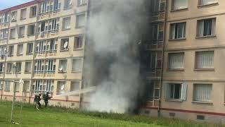 INCENDIE d'immeuble et explosion à Villeurbanne