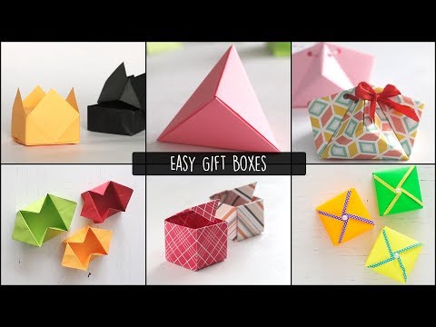 Easy Gift Boxes    Paper Gift Box    How To Make Gift Box    Handmade