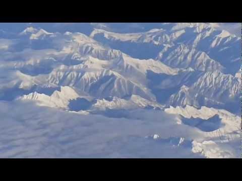Vancouver-to-Toronto flight: takeoff 8R, climb, Rockies, Crowsnest Pass, landing Toronto 2012-12-26
