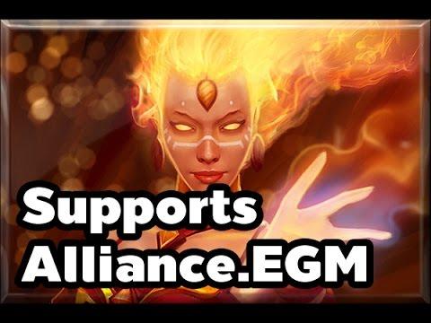 [Dota2] Alliance.EGM Lina Supports Ranked MMR Game