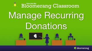 Manage Recurring Donations