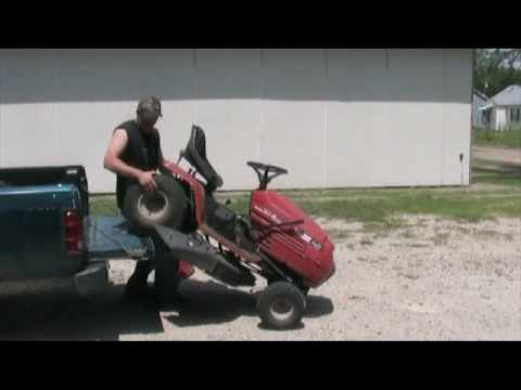 how to build a loading ramp for lawn mower