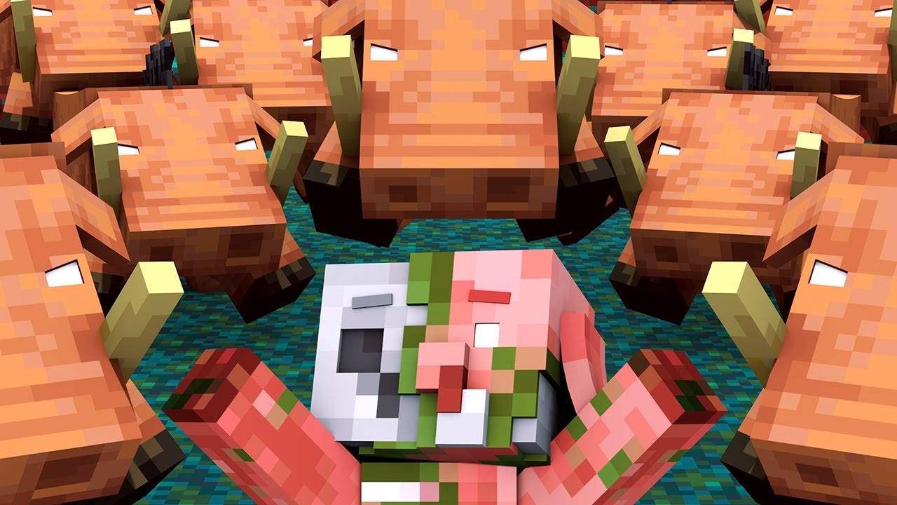 Zombified Piglin Life: FULL ANIMATION - R.I.P Zombie Pigman Minecraft Animation