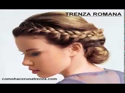 Como hacer una trenza romana