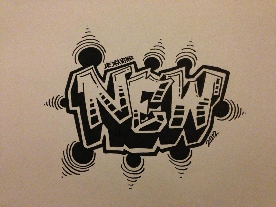 How to draw graffiti letters new style 2012 youtube