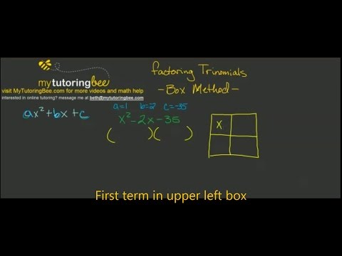 How To Factor Trinomials Using The Box Method (8th And Up)