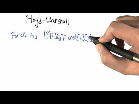 Floyd-Warshall - Intro to Algorithms
