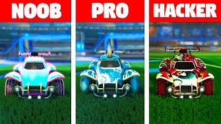 NOOB Vs PRO Vs HACKER: Octane Car Designs On Rocket League