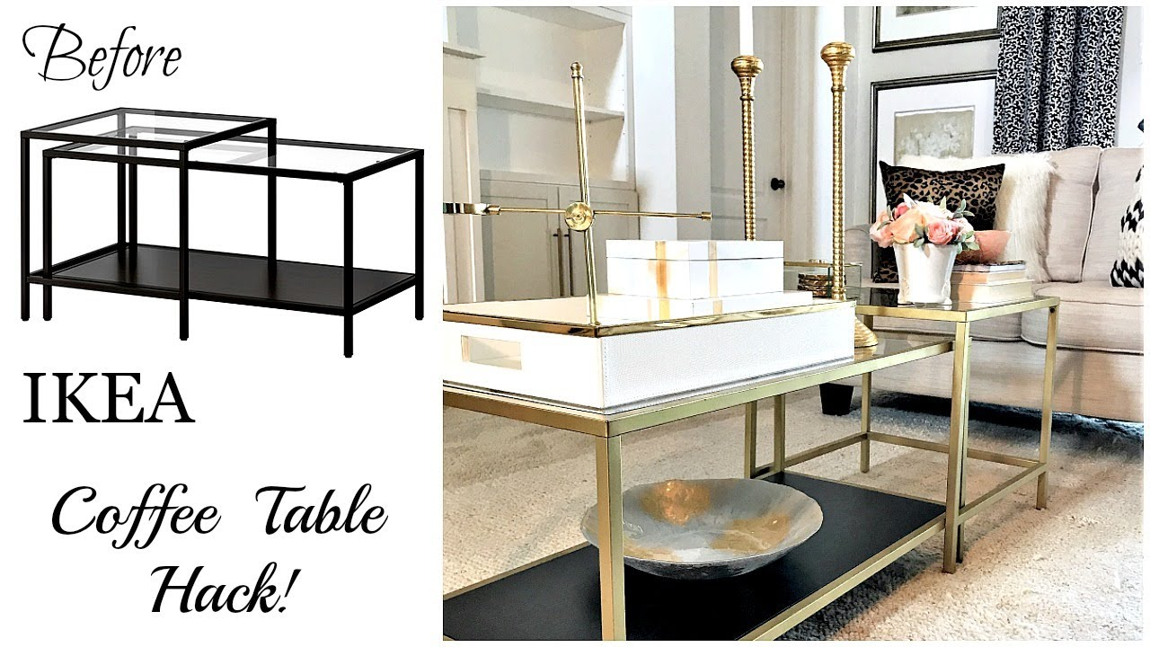 IKEA Hack | $59 Vittsjo Coffee Table - YouTube