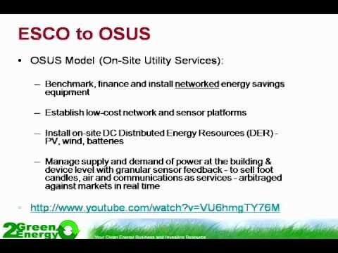 Onsite Utility Services (OSUS) Replace Energy Service Companies (ESCOs)