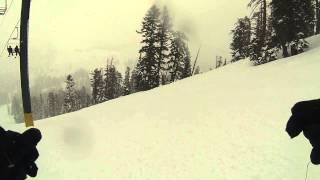 Kirkwood Ski Snow Board Powder Day March 2nd 2014 The Reut