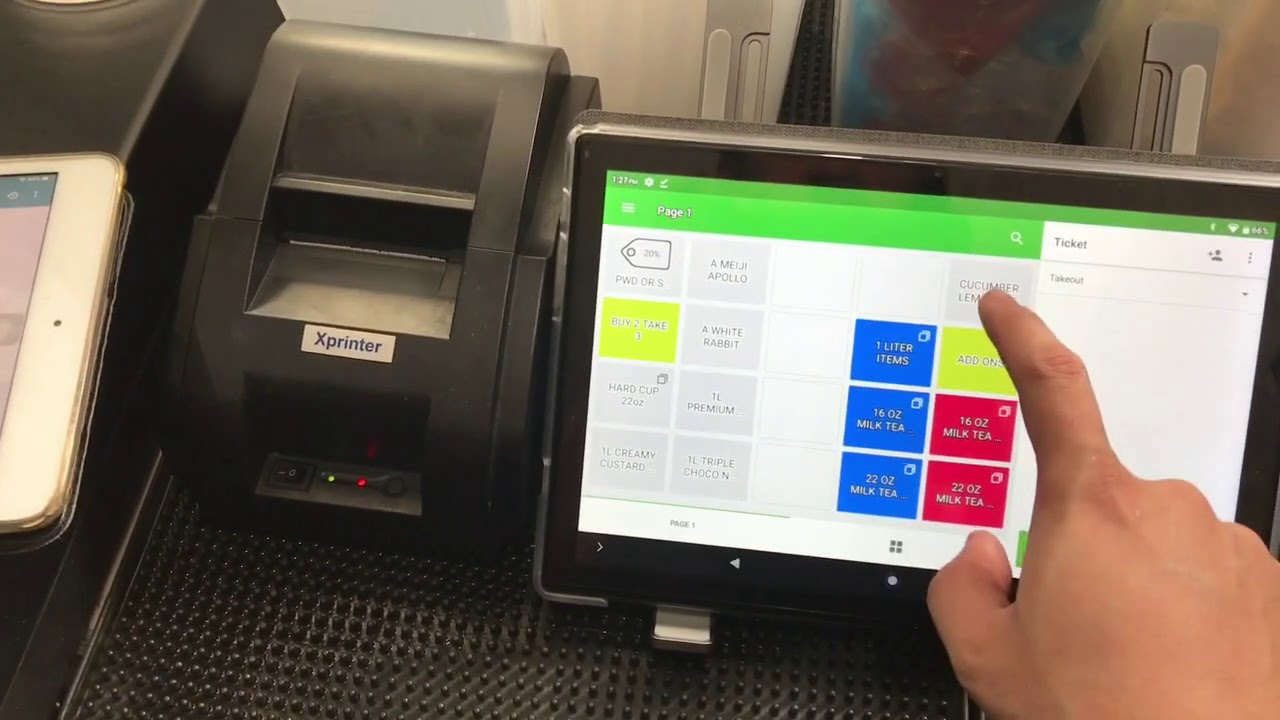 POS CASHIER WITH PRINTING SYSTEM AND KITCHEN DISPLAY