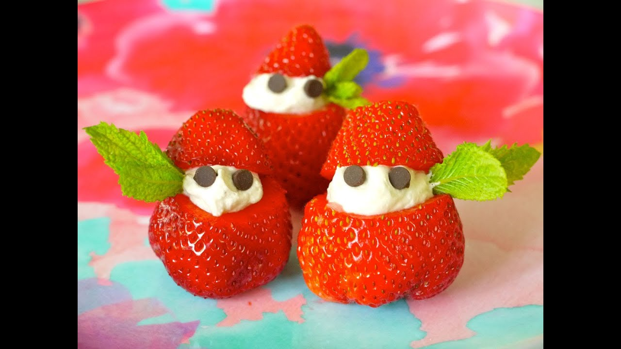 c4e214a9a5 Healthy Snack Recipe for Children  How to Make Strawberries   Cream with  Kids - Weelicious