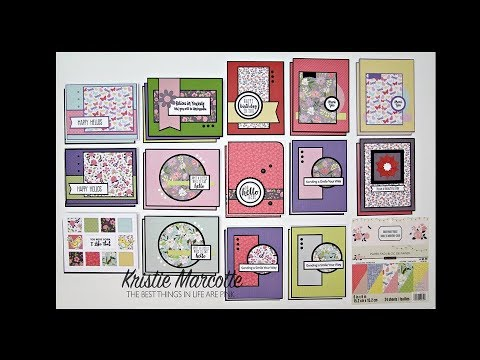 Recollections Backyard Table - 29 cards from one 6x6 paper pad