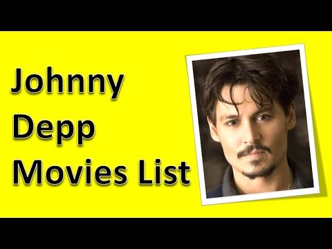 Johnny deep movie list