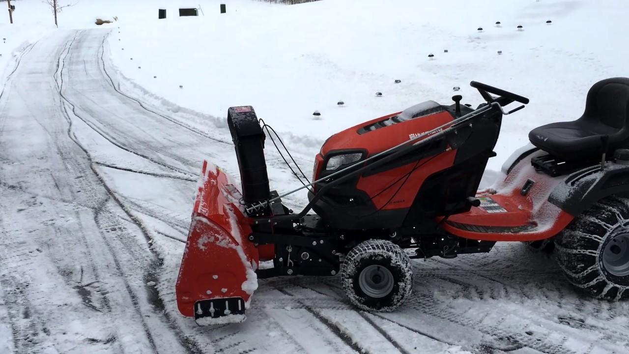 Husqvarna YT42DXLS - Lawn mower and 2-Stage Snowblower ...