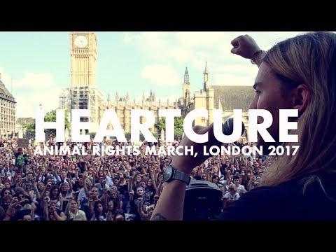 Animal Rights March, London 2017 | Heartcure Speech (Jordan Heart & Georgia Cook)