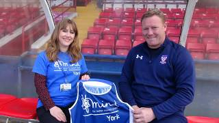 Steve Watson shows support for York Mind