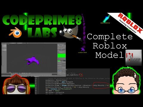 Roblox - CodePrime8 Labs - Complete Roblox Model from Scratch [Blender 3d, GIMP, Roblox, Lua] thumbnail