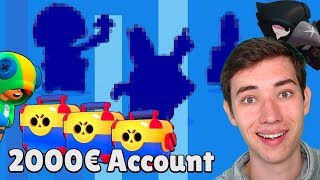 💰2000€ PAY2WIN Account in BRAWL STARS! | Alle 30 Brawler im Opening freischalten!