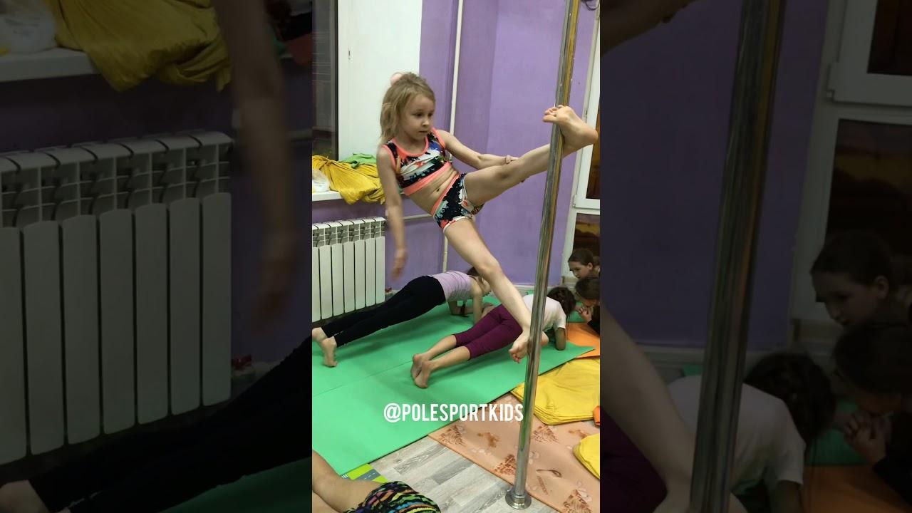 8 years old pole sport kids Russian nation champion | Спортивный пилон акробатика дети тренировка
