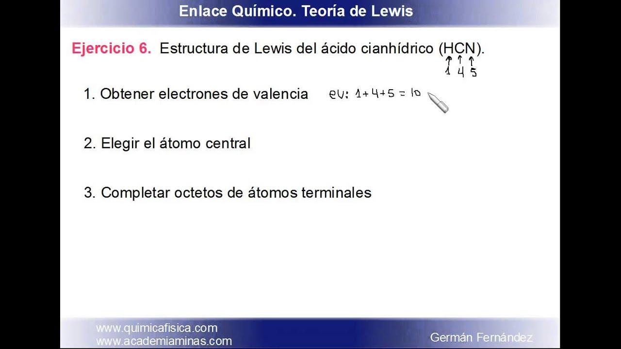 Estructura De Lewis Del ácido Cianhídrico Hcn Fisicoquímica