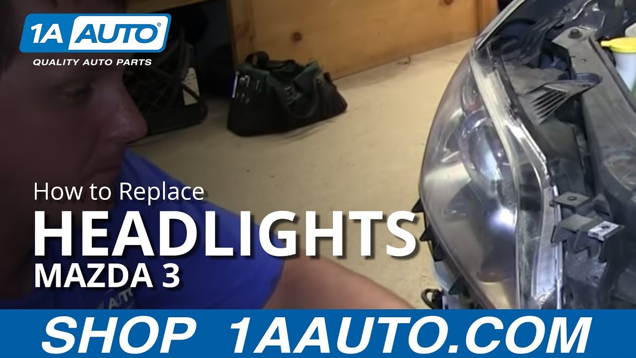 How To Install Replace Change Headlight And Bulb 2004 06 Mazda 3 4 Door Youtube