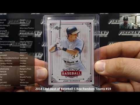 11/5/2018 2018 Leaf Best of Baseball 5 Box Random Teams #19