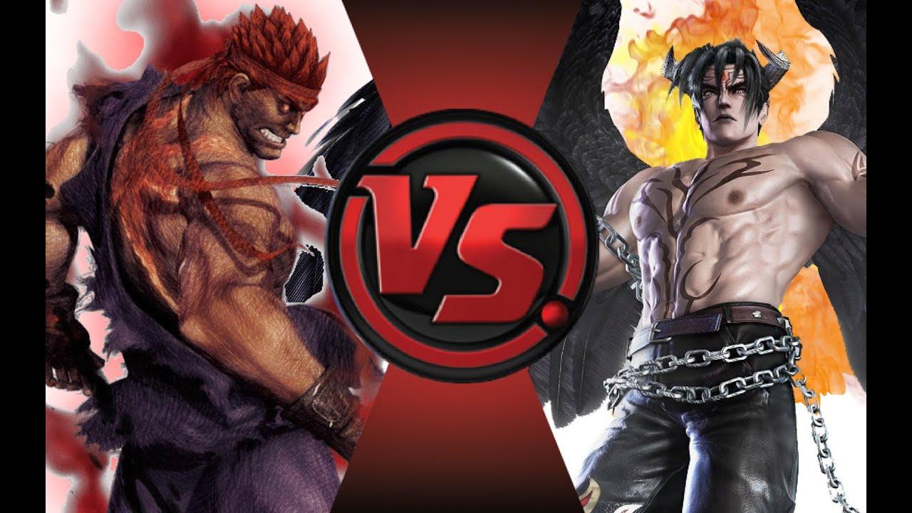 evil ryu vs devil jin cartoon fight club episode 43 youtube