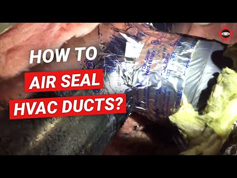 Air Duct Sealing DIY | How To Air Seal HVAC Ducts