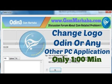 How To Modify Odin And Put Your Logo Image And Name On Odin Very Easy