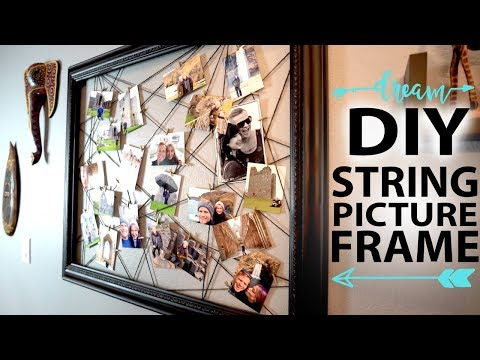 DIY Clothespin & String Picture Frame | Upcycling an old frame