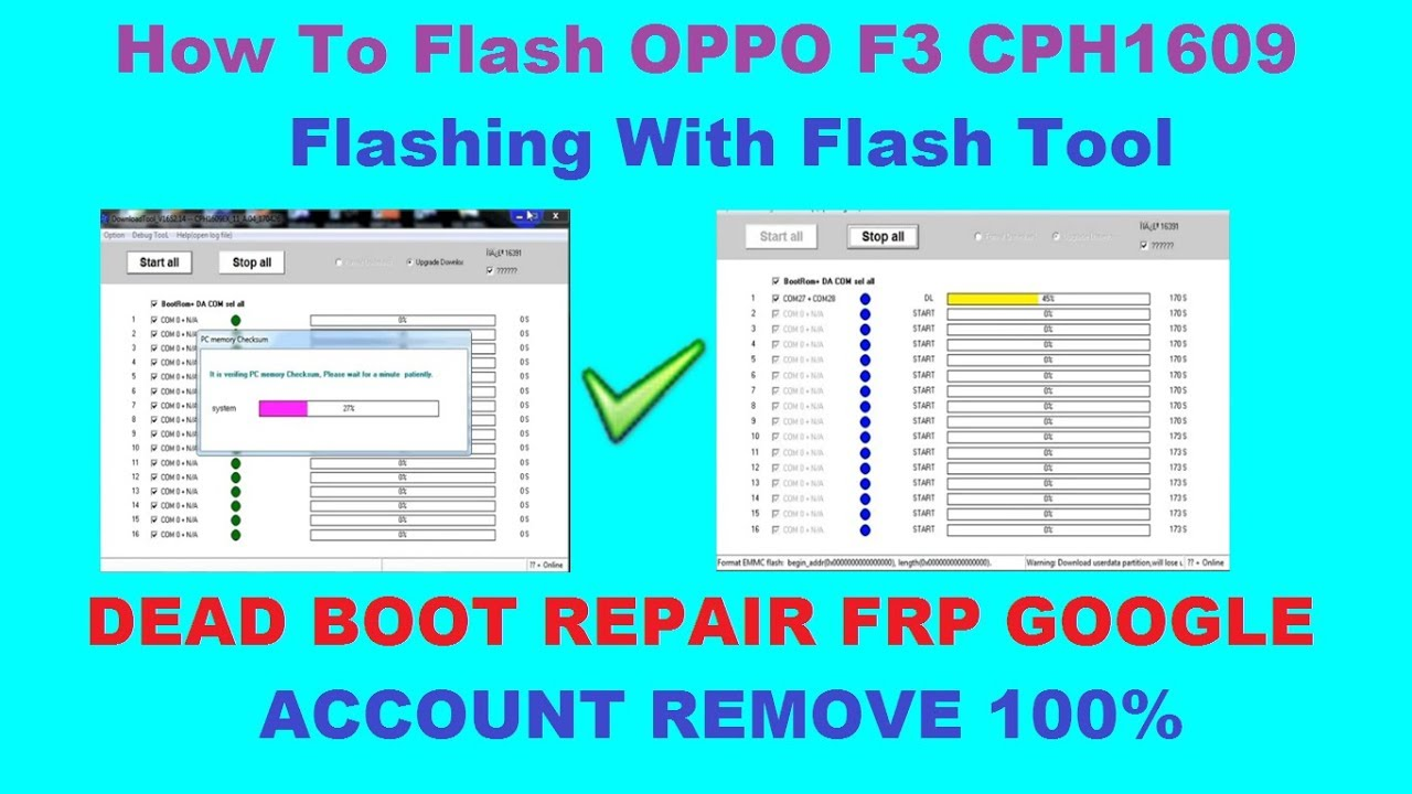 How To Flash OPPO F3 CPH1609 Flashing With Flash Tool