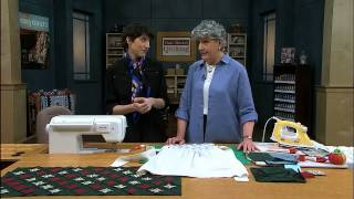 Make The Cathedral Window Quilt For A Table Cloth Topper
