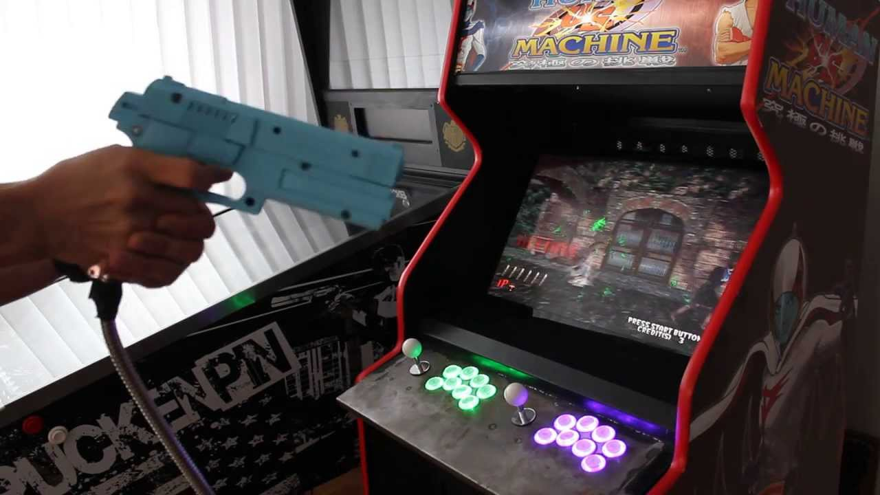 Namco Aimtrakgun Mame Cab House Of The Dead 2 Youtube