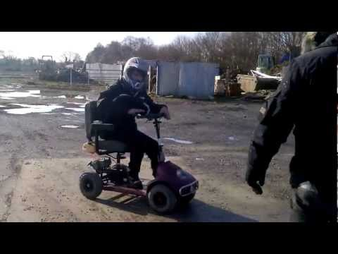 mobility scooter with petrol engine.