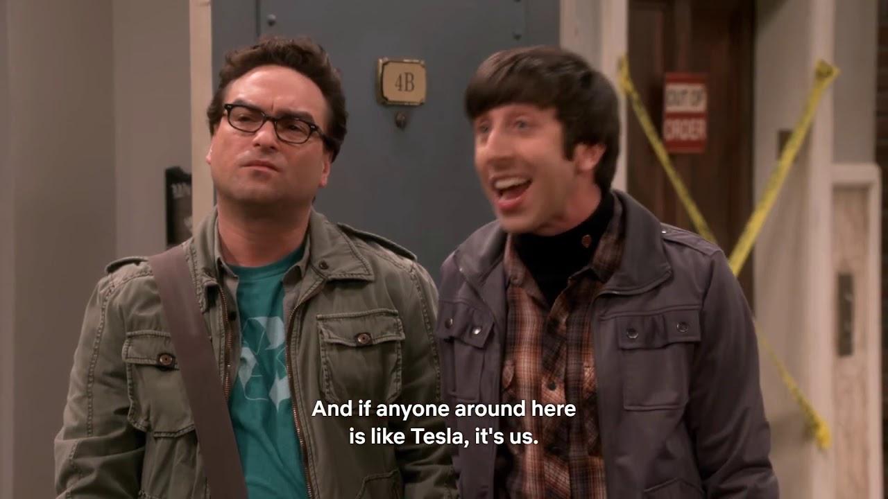 Tesla vs Edison in The Big Bang Theory