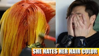 SHE HATES HER HAIR COLOR!