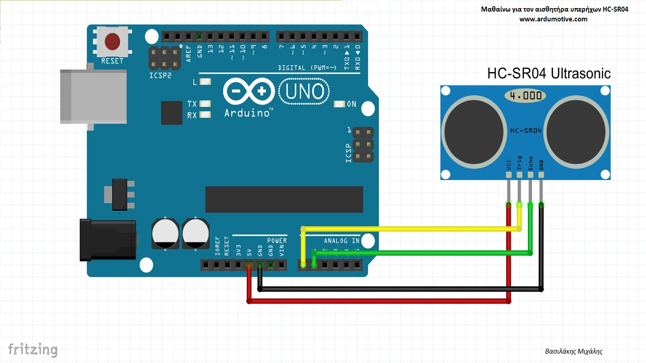 ultrasonic sensor hc-sr04 test with arduino