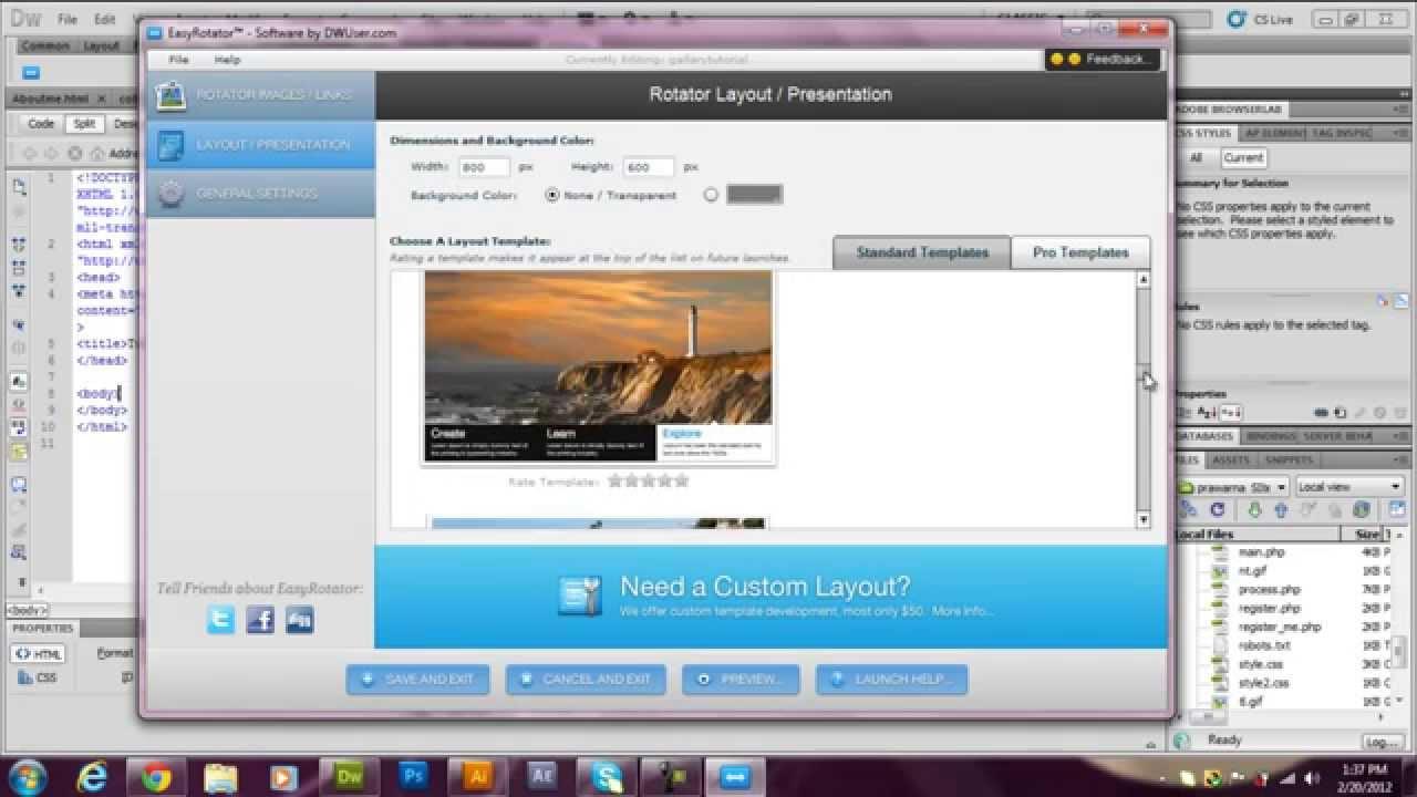 Ziemlich Dreamweaver Cs6 Website Vorlagen Bilder - Entry Level ...