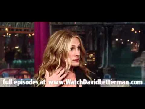 Julia Roberts in Late Show with David Letterman June 30, 2011