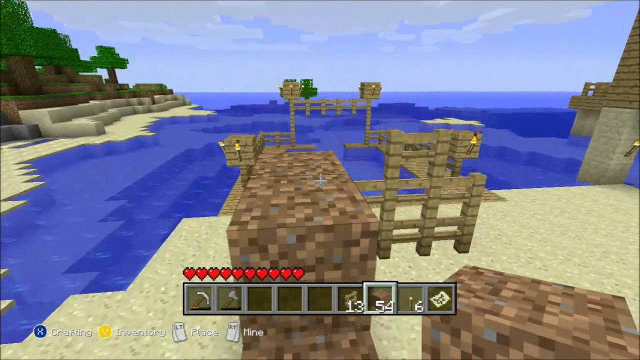 how to make a fence in minecraft xbox 360