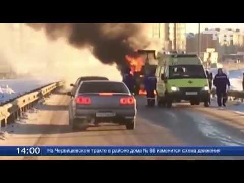 В Тюмени сгорел трактор