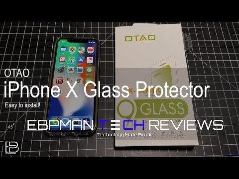 iPhone X! Error Free install Glass Screen Protector