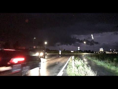 Unwetter (Superzelle) mit starker Rotation am 18.08.17  - Katastrophenalarm LK Passau