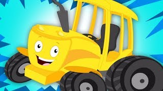 Ten Little Tractors | Kindergarten Nursery Rhymes | Cartoon Videos For Toddlers by Kids Tv
