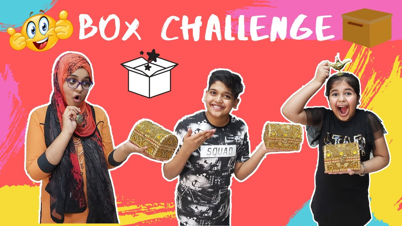 BOX CHALLENGE | WHAT'S IN THE BOX CHALLENGE |  FUNNY KIDS