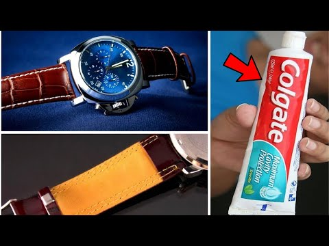 Use Toothpaste And Baking Soda To Clean Fossil Leather Watch Strap Smell At Home – DIY Cleaner
